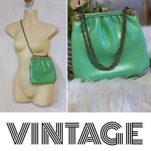 RARE Vintage neon/slime green hand/shoulder bag